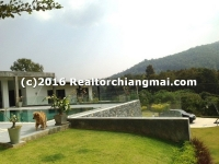 Modern House and pool with nice mountain view for SALE in Chiang Mai, Thailand.